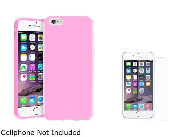 1X TPU Case compatible with Apple iPhone 6 4.7, Light Pink Jelly