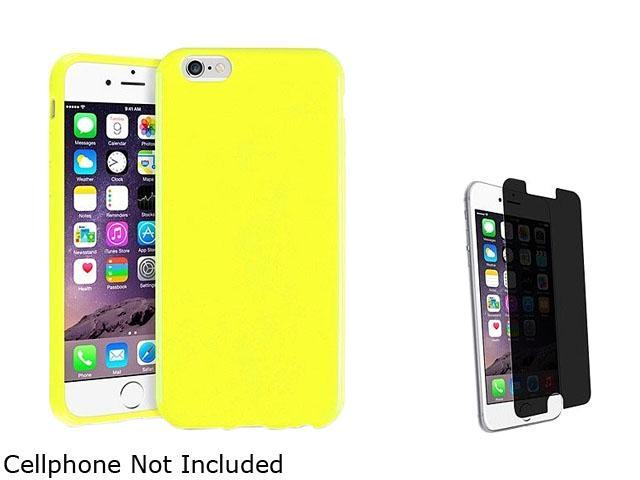 1X TPU Case compatible with Apple iPhone 6 4.7, Yellow Jelly