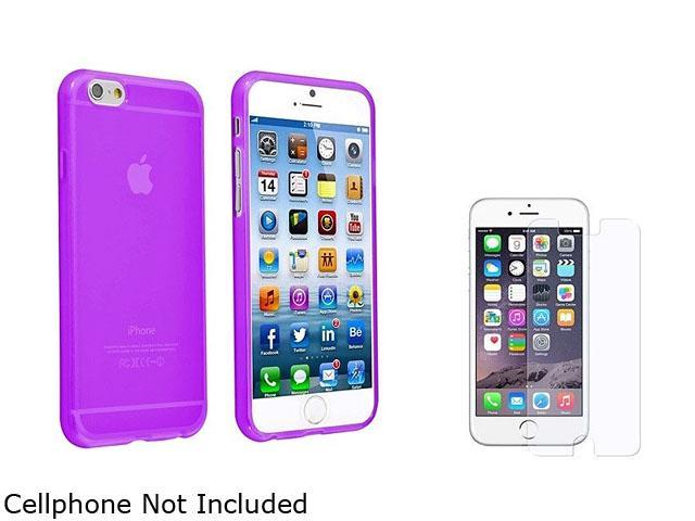 1X TPU Case compatible with Apple iPhone 6 4.7, Clear Purple