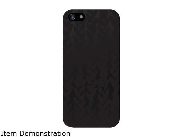 OTM iPhone 5 Black Matte Case, Black/Black Collection, Hearts