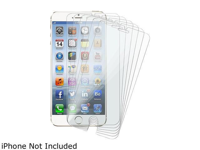 Insten Transparent 6pcs-set Reusable Screen Protector Shield for Apple iPhone 6 (4.7-inch) 1923765