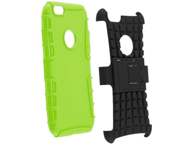 Insten Green Skin / Black Hard Hybrid Case 2-in-1 w / Stand for Apple iPhone 6 (4.7-inch) 1927146