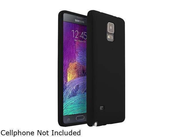 Insten Black Jelly Glossy TPU Rubber Gel Case Cover for Samsung Galaxy Note 4 1957510