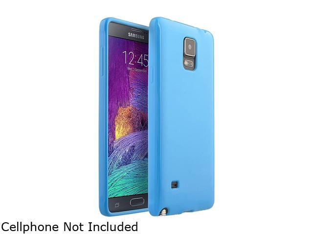 Insten Blue Jelly Glossy TPU Rubber Gel Case Cover for Samsung Galaxy Note 4 1957511