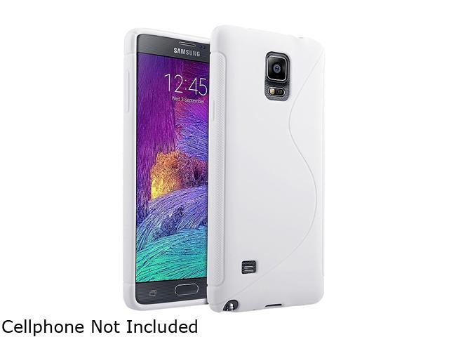 Insten White S Shape TPU Rubber Gel Case Cover for Samsung Galaxy Note 4 1957526