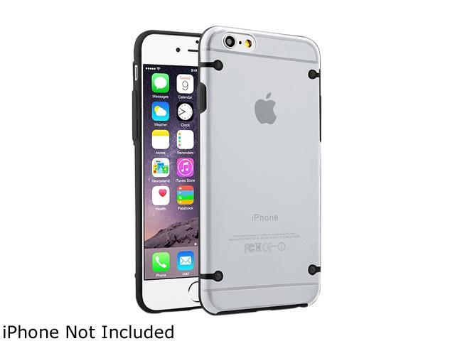Insten Clear / Black TPU Rubber Bumper Snap-in Case Cover for Apple iPhone 6 (4.7-inch) 1964157