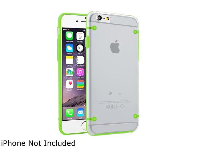 Insten Clear/Green TPU Rubber Bumper Snap-in Case Cover for Apple iPhone 6 (4.7-inch) 1964159