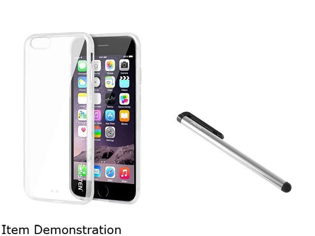 Insten Clear Bumper Clip-on Case Cover + Silver Stylus Pen for Apple iPhone 6 Plus (5.5-inch) 1967658