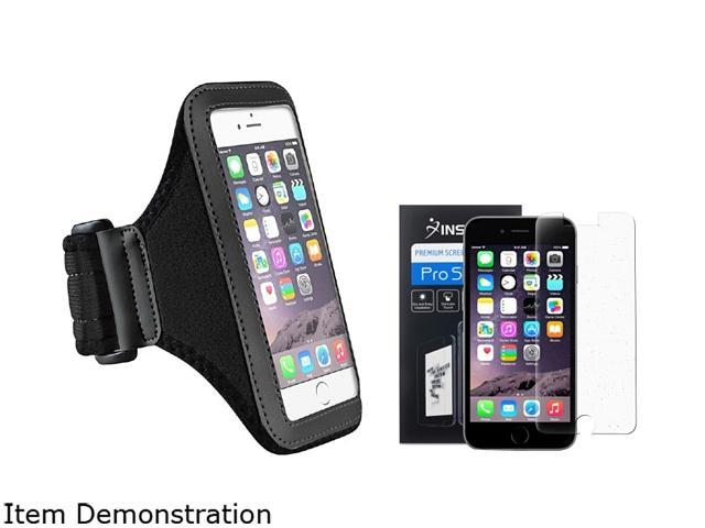 Insten Black Sportband Case Cover + Screen Protector for Apple iPhone 6 (4.7-inch) 1935963