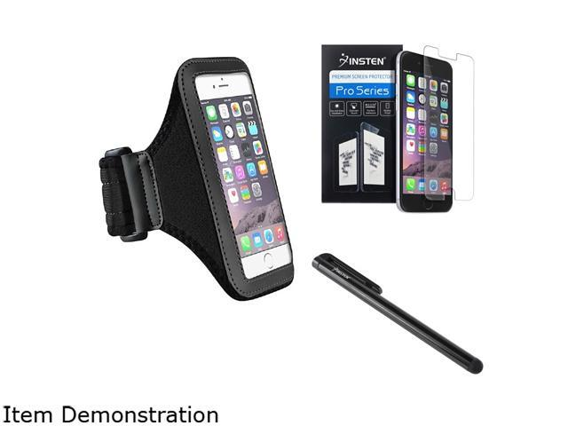 Insten Black Sportband Case Cover + Screen Protector + Stylus Pen for Apple iPhone 6 (4.7-inch) 1935968