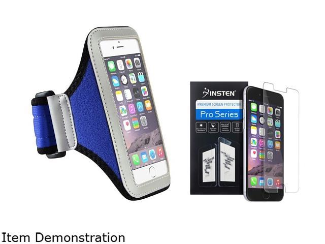 Insten Silver / Blue Sportband Case Cover + Screen Protector for Apple iPhone 6 (4.7-inch) 1966991