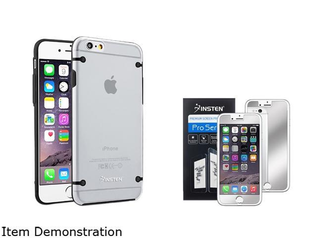 Insten Clear/ Black Bumper Clip-on Case Cover + Mirror Screen Protector for Apple iPhone 6 (4.7-inch) 1967883