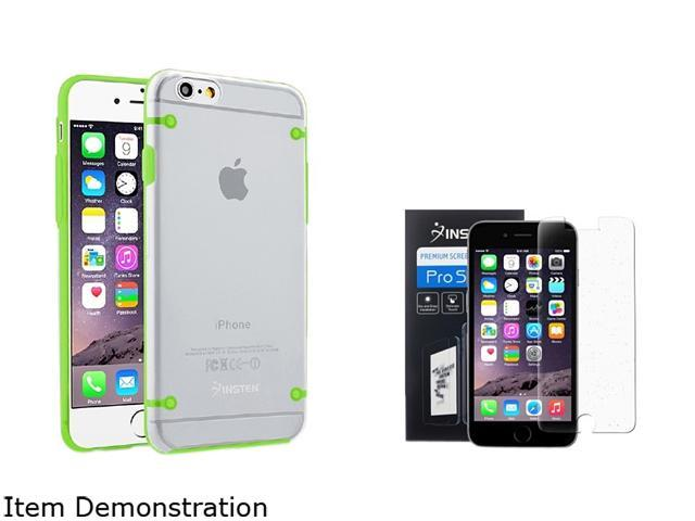 Insten Clear/ Green Bumper Clip-on Case Cover + Screen Protector for Apple iPhone 6 (4.7-inch) 1967893