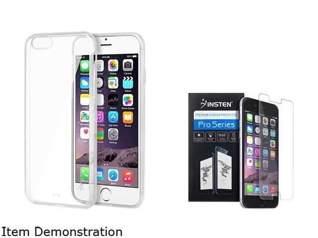 Insten Clear Bumper Clip-on Case Cover + Screen Protector for Apple iPhone 6 (4.7-inch) 1967861