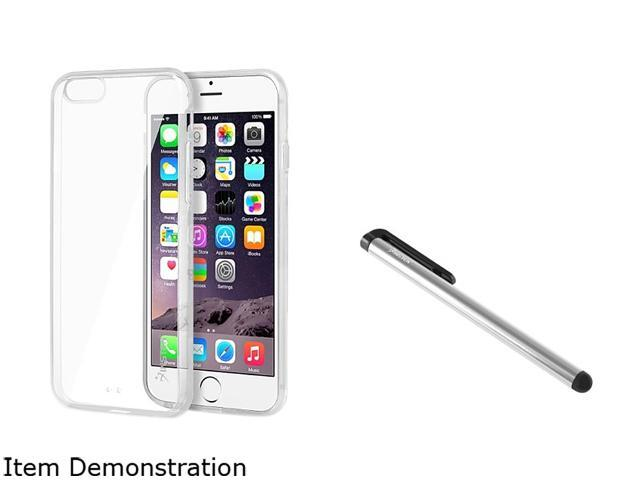 Insten Clear Bumper Clip-on Case Cover + Silver Stylus Pen for Apple iPhone 6 (4.7-inch) 1967869