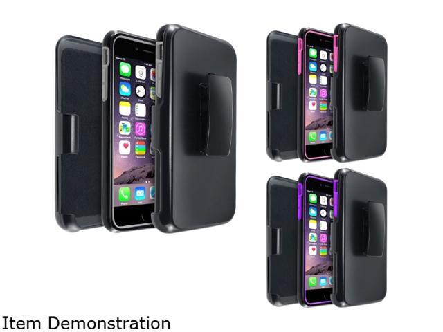Insten Gray/ Black, Hot Pink/ Black, Purple/ Black 3 packs of w/ Stand Hybrid Case Cover for Apple iPhone 6 Plus (5.5-inch) 1967927