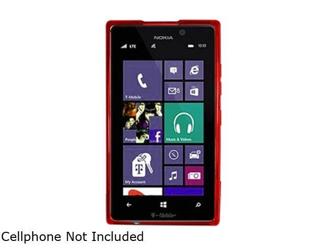 Insten Red TPU Rubber Case Cover for Nokia Lumia 925 1761505