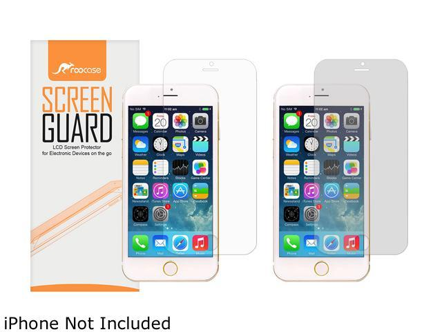 roocase 4-Pack (2 Anti-Glare & 2 HD) Screen Protector Film for Apple iPhone 6 / 6S 4.7-inch