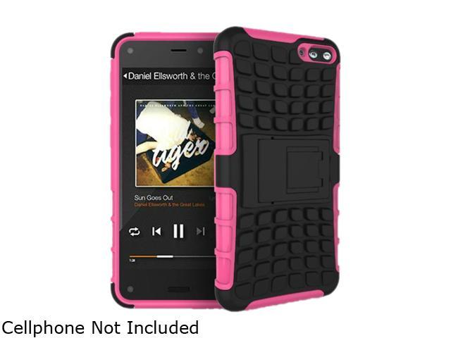 GearIT Pink Heavy Duty Armor Hybrid Rugged Stand Case for Amazon Fire Phone GFIREMP47HYD9PI