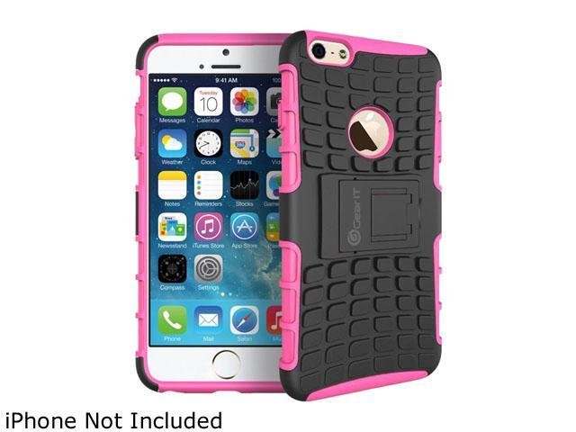 GearIT Pink Heavy Duty Armor Hybrid Rugged Stand Case for Apple iPhone 6 4.7