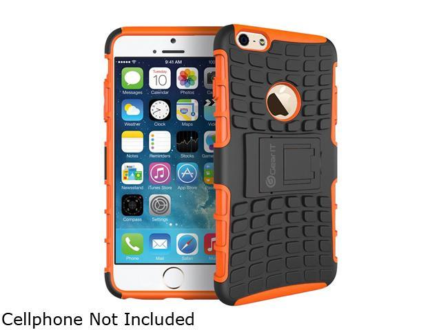 GearIT Orange Heavy Duty Armor Hybrid Rugged Stand Case for Apple iPhone 6 5.5