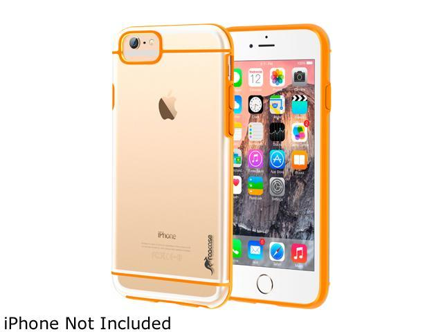 roocase Slim FUSION Hybrid Clear PC TPU Case Cover for Apple iPhone 6 / 6S 4.7-inch, Orange