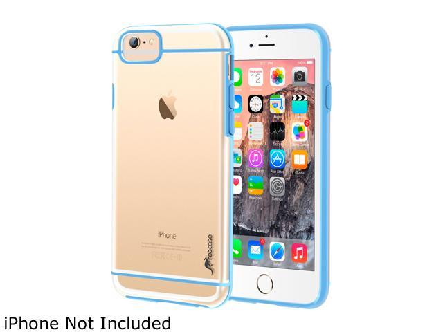 roocase Slim FUSION Hybrid Clear PC TPU Case Cover for Apple iPhone 6 Plus / 6S Plus 5.5-inch, Blue