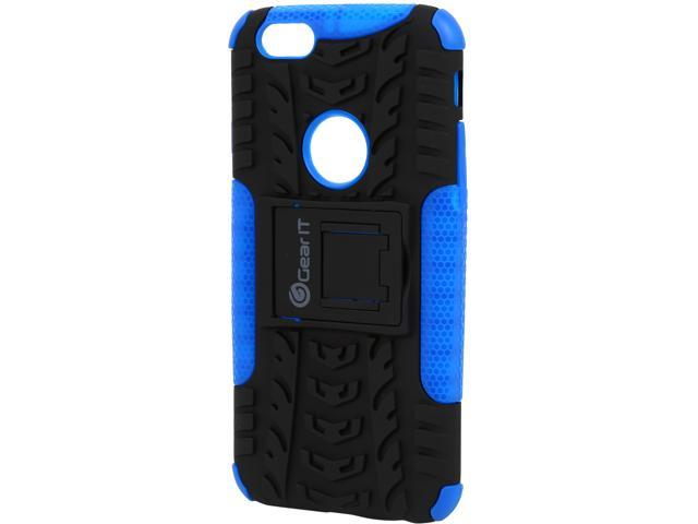GearIt Heavy Duty Armor Hybrid Rugged Stand Case for Apple iPhone 6 / 6S 4.7-inch, Blue