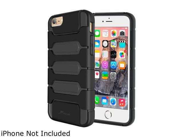 roocase Slim Fit XENO Armor Hybrid TPU PC Case Cover for Apple iPhone 6 / 6S 4.7-inch, Black