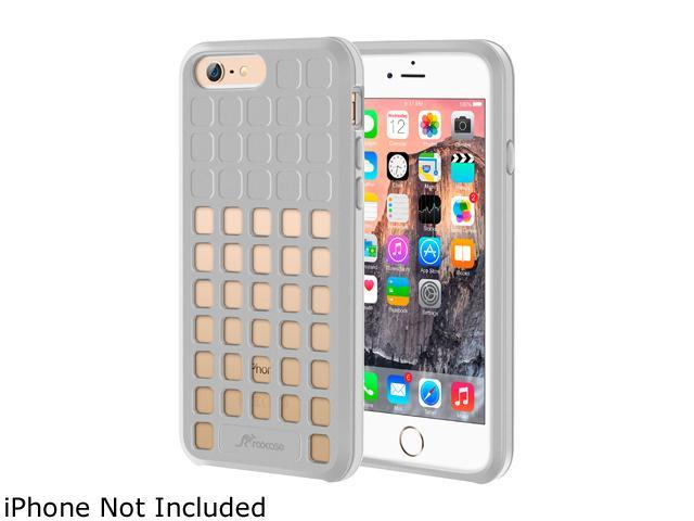roocase Slim Fit Quadric TPU Case Protective Cover for Apple iPhone 6 / 6S 4.7-inch, Silver