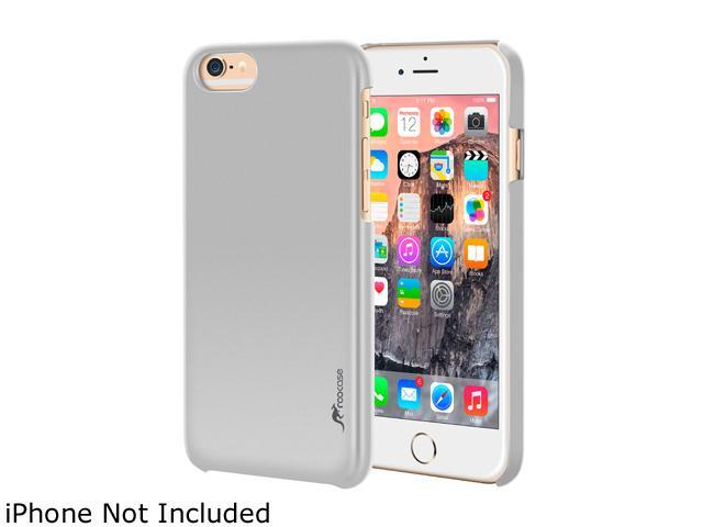 roocase Slim Fit Median Hard Case Protective Cover for Apple iPhone 6 / 6S 4.7-inch, Silver