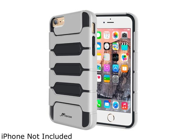 roocase Slim XENO Armor Hybrid TPU PC Case Cover for Apple iPhone 6 Plus / 6S Plus 5.5-inch, Silver
