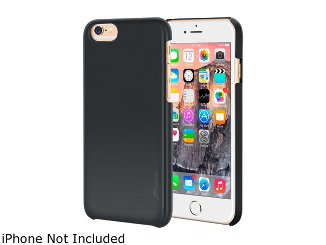 roocase Slim Fit Median Hard Case Protective Cover for Apple iPhone 6 Plus / 6S Plus 5.5-inch, Black