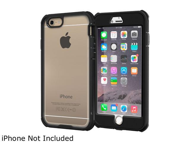 roocase Glacier Tough Hybrid PC TPU Rugged Case for Apple iPhone 6 Plus / 6S Plus 5.5-inch, Black
