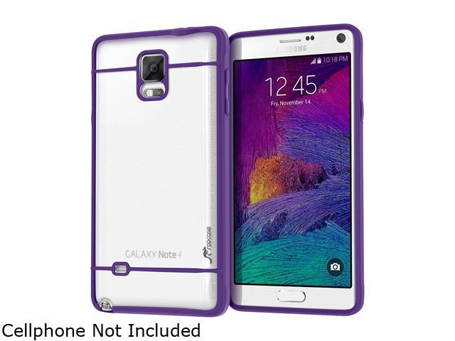 rooCASE Purple Fuse Hybrid Frost PC TPU Case Cover for Galaxy Note 4 RCNOTE4FUSEPR