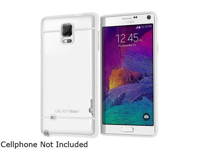 rooCASE White Fuse Hybrid Frost PC TPU Case Cover for Galaxy Note 4 RCNOTE4FUSEWH