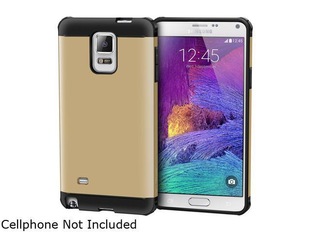 rooCASE Gold Exec Tough Hybrid PC/TPU Case Cover for Galaxy Note 4 RCNOTE4ETCG
