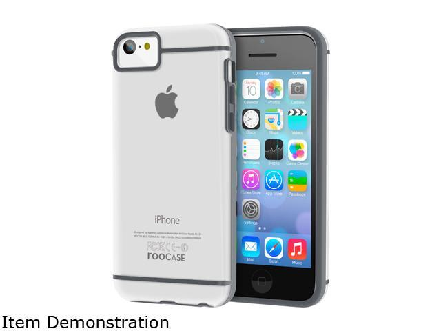 rooCASE Fuse Gray Slim Fit TPU Skin Case Cover for Apple iPhone 5C RC-IPH5C-FUSE-GY