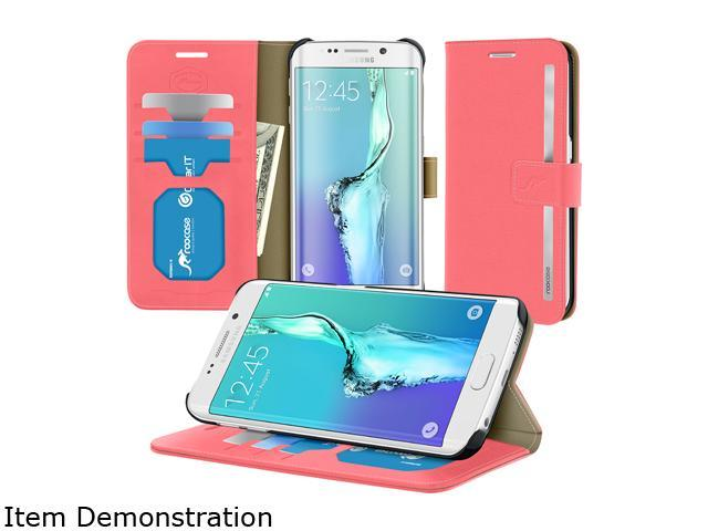 rooCASE Prestige Pink Folio Case for Samsung Galaxy S6 Edge+ RC-SAM-S6EP-FOL-PR-PI