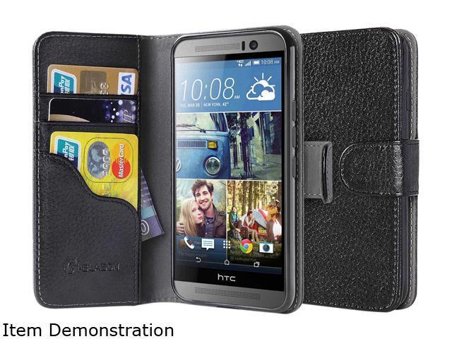 i-Blason Leather Book Black HTC One M9 Case HTCOne-M9-LeatherBook-Black