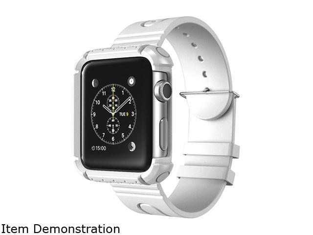 i-Blason White Apple Watch 42 mm Rugged Protective Case with Wristband AppleWatch-42-Rugged-White