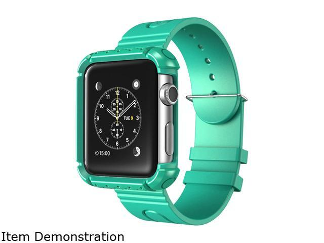 i-Blason Green Apple Watch 38 mm Rugged Protective Case with Wristband AppleWatch-38-Rugged-Green