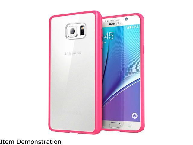 i-Blason Halo Clear/Pink Scratch Resistant Hybrid Case for Galaxy Note 5 Note5-Halo-Pink/Clear