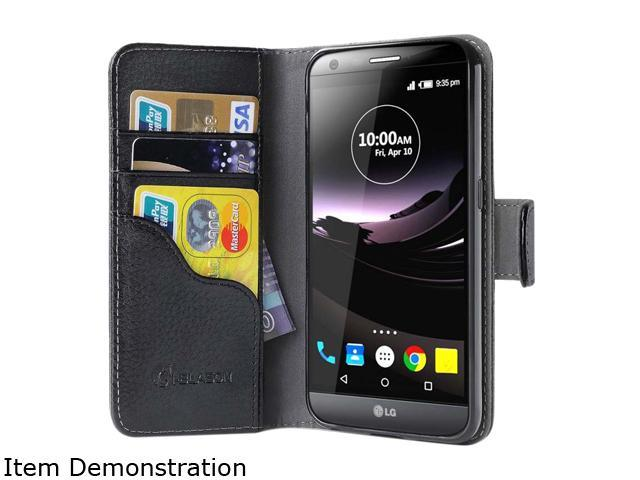 i-Blason Leather Book Black LG G5 Folio Wallet Case LG-G5-Leatherbook-Black