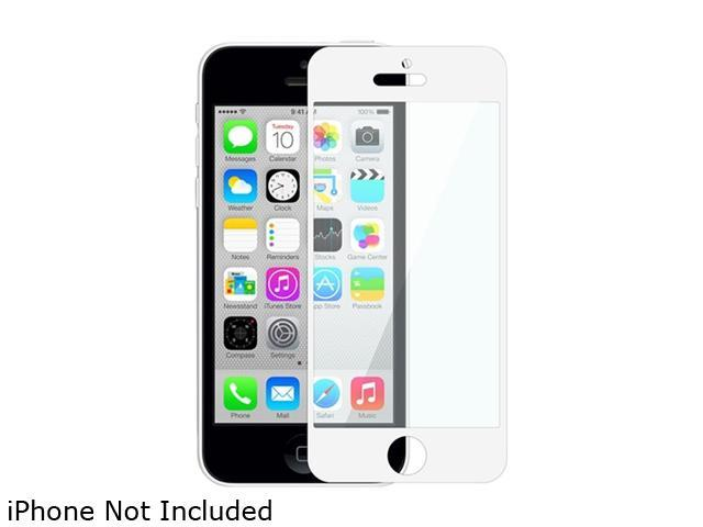 Insten White Colorful Frame Color Coated LCD Screen Protector Film Shield Guard Cover for iPhone 5 / 5S / 5C 1613109