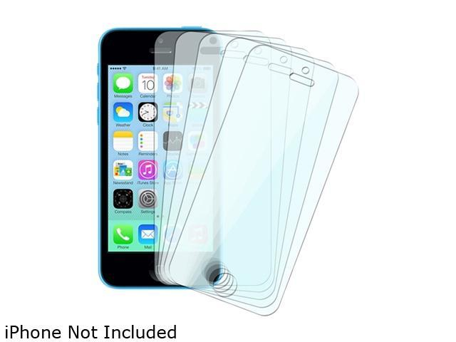 Insten Transparent 5-Pack Full Body LCD Screen Protector Film Shield Guard Cover Compatible with Apple iPhone 5/ 5S/5C 1613113