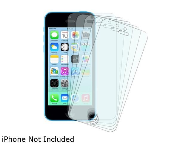 Insten Transparent 5-Pack Matte Anti-Glare Full Body LCD Screen Protector Film Shield Guard Cover for iPhone 5/ 5S/5C 1613114