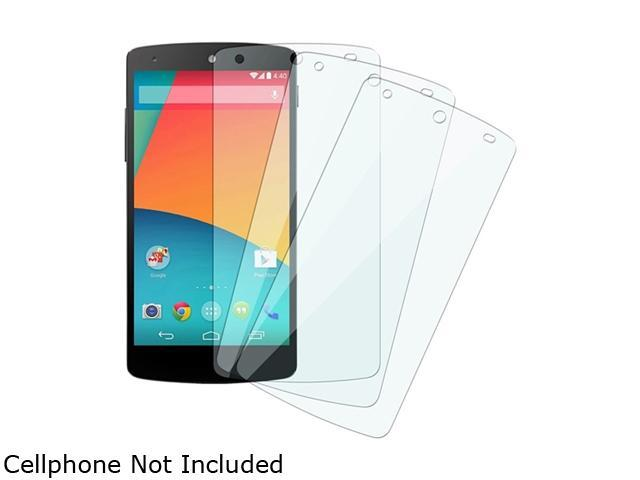 Insten Clear 3-Pack Set Regular LCD Screen Protector Film Shield Guard Cover Compatible with LG Nexus 5 1646142