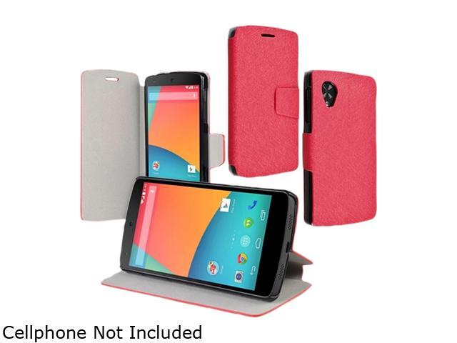 Insten Red Stylish Protective Heavy-duty High Impact Stand Leather Case Compatible with LG Nexus 5 D820/ D821 1665692