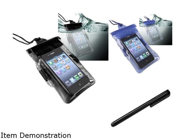 Insten 2x Black Blue Waterproof Bag Case + Black Screen Stylus Pen For Samsung Nexus S Galaxy S 4G 1458085